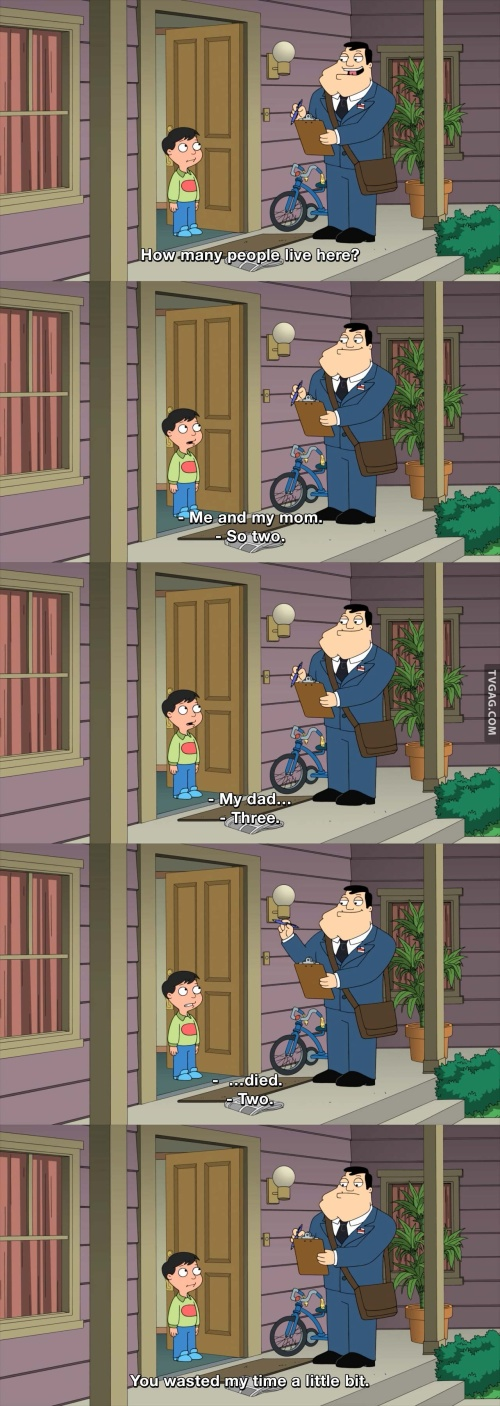 American Dad - How many people live here?