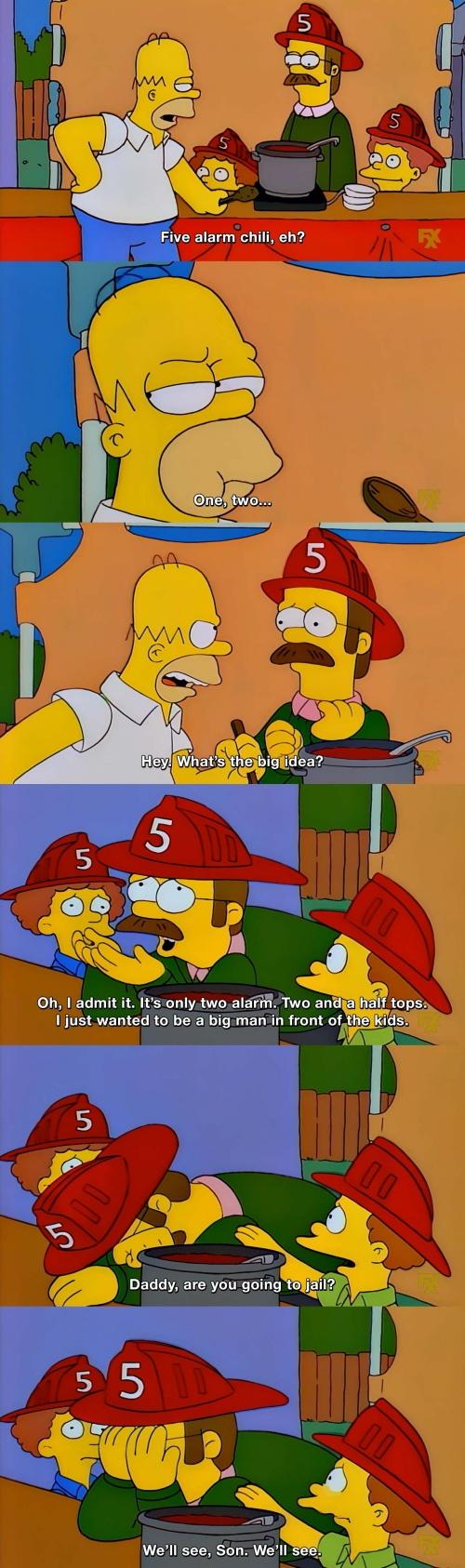 The Simpsons - Five alarm chili