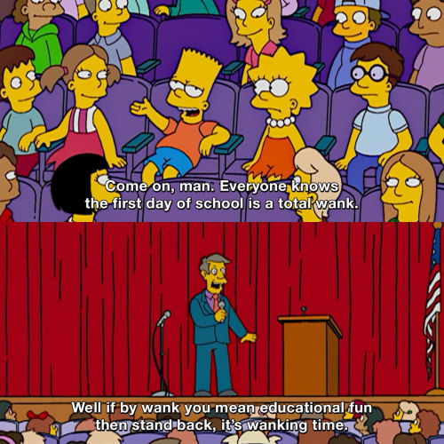 The Simpsons - First day of school is a total wank