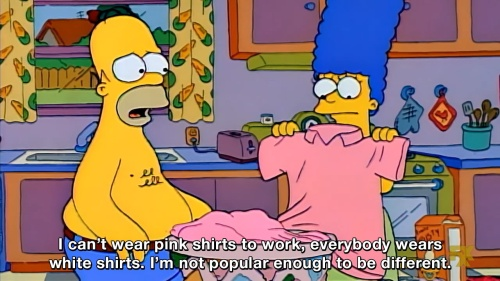The Simpsons - I can't wear pink shirts to work