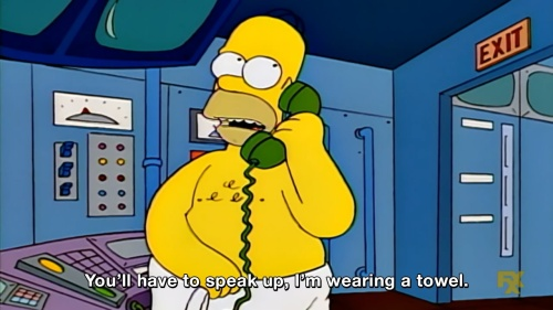 The Simpsons - You'll have to speak up