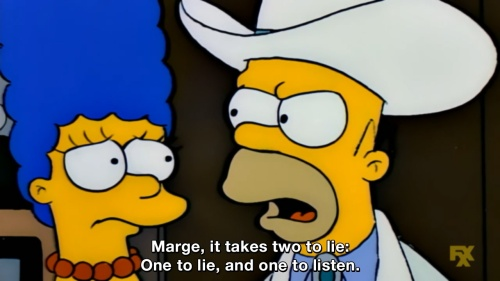 The Simpsons - It takes two to lie