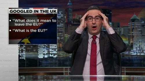 Last Week Tonight with John Oliver - Googled in the UK
