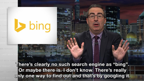 Last Week Tonight with John Oliver - There's clearly no such search engine as
