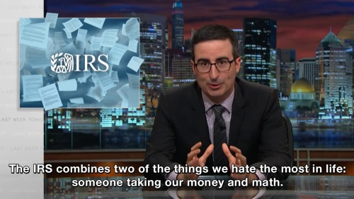 Last Week Tonight with John Oliver - The IRS combines two things