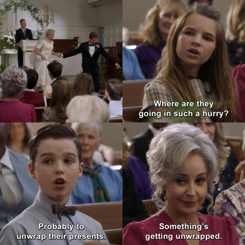 Young Sheldon - Where are they going in such a hurry?