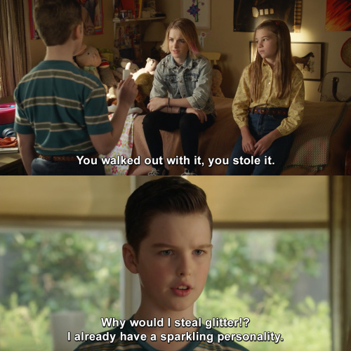 Young Sheldon - You stole it