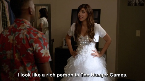 New Girl - I look like a rich person in The Hunger Games