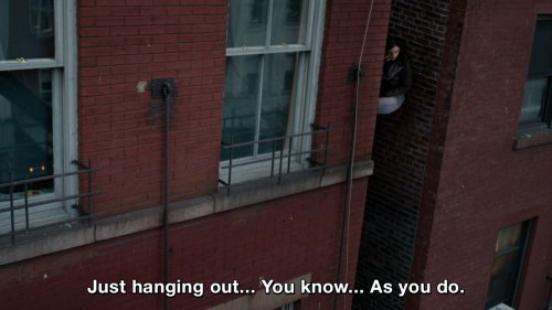 Jessica Jones - Just hanging out... You know... As you do.
