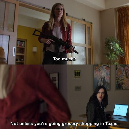 Jessica Jones - Grocery shopping in Texas