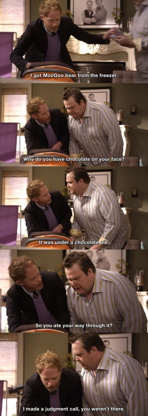 Modern Family - Why do you have chocolate on your face?