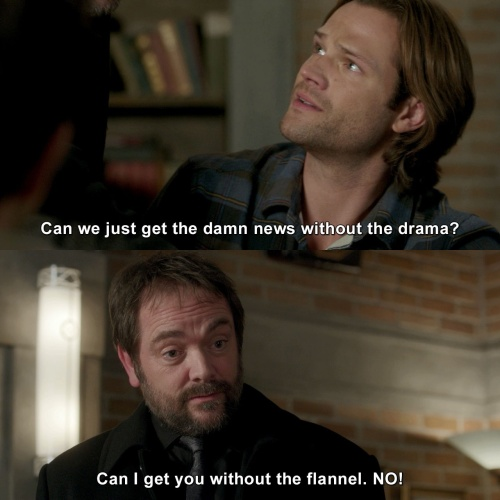 Supernatural - Can we just get the damn news without the drama