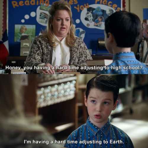 Young Sheldon - Having a hard time adjusting
