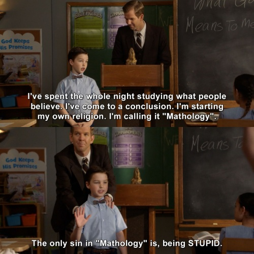 Young Sheldon - This is going to be a small group of people
