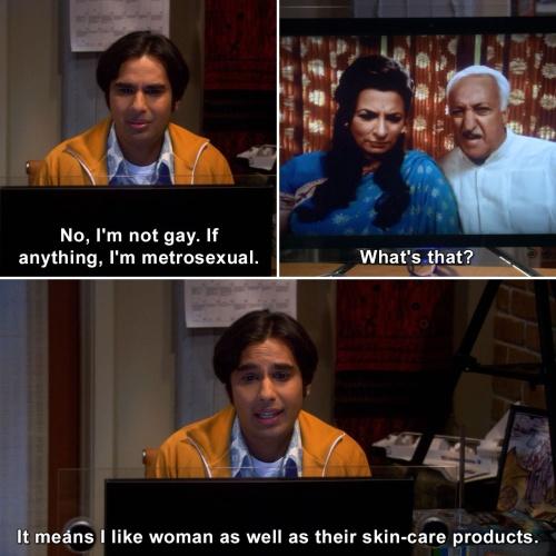 Metrosexuals are not gay