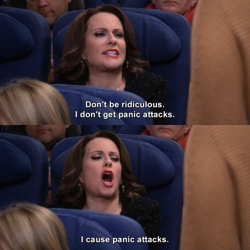 Will and Grace - I don't get panic attacks