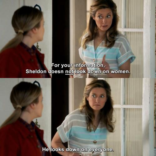 Young Sheldon - Sheldon doesn't look down on women