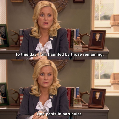 Parks and Recreation - I am haunted by those remaining