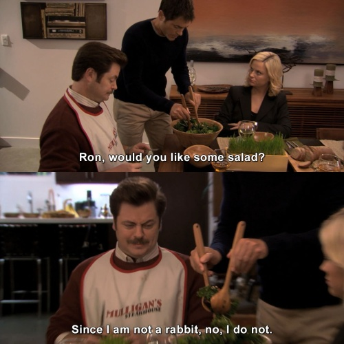 Parks and Recreation - Would you like some salad?