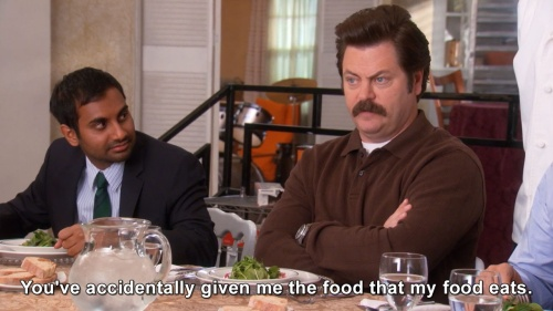 Parks and Recreation - Ron and food.