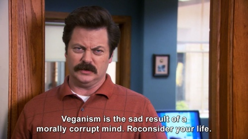 Parks and Recreation - Ron about Veganism