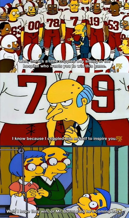 The Simpsons - They better win the game
