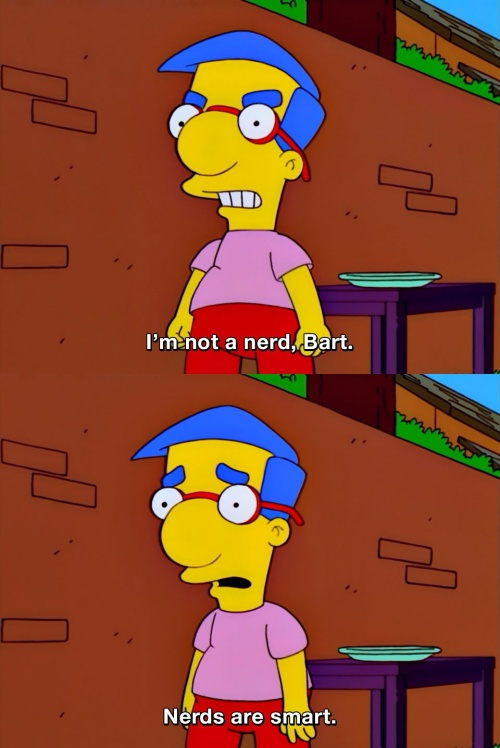 The Simpsons - I'm not a nerd!
