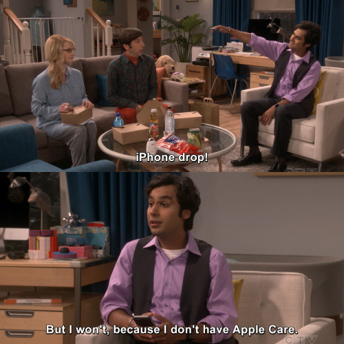 The Big Bang Theory - Iphone drop