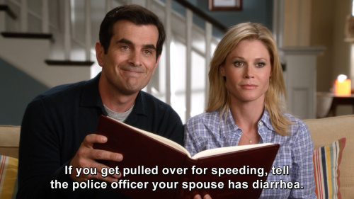 Modern Family - If you get pulled over for speeding