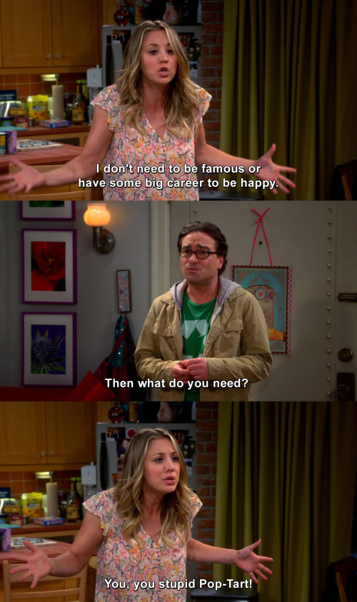 The Big Bang Theory - What do you need?