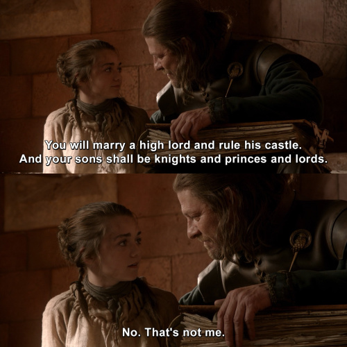 Game of Thrones - That's not me.