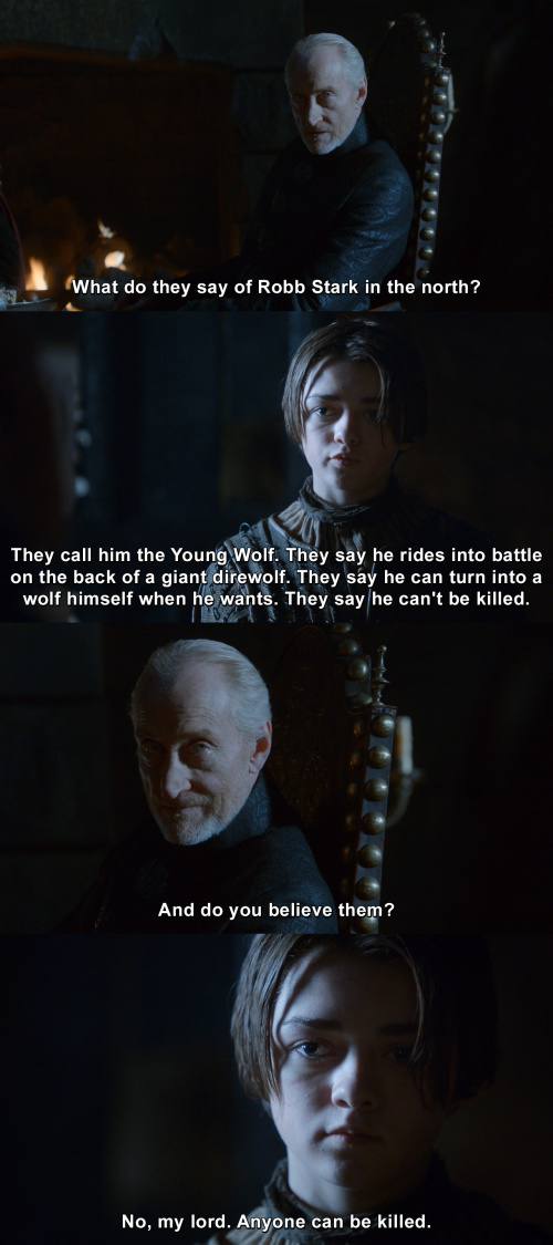 Game of Thrones - Anyone can be killed.