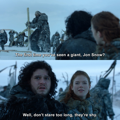 Game of Thrones - First time you've seen a giant?