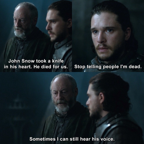 Game of Thrones - John Snow took a knife in his heart.