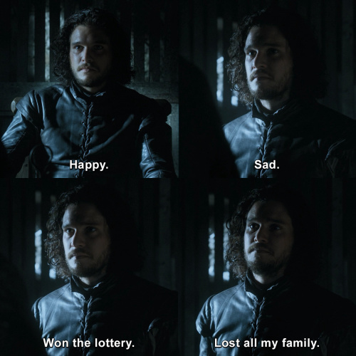 Game of Thrones - Jon Snow and his many different expressions