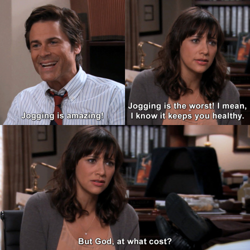 Parks and Recreation - I hate jogging
