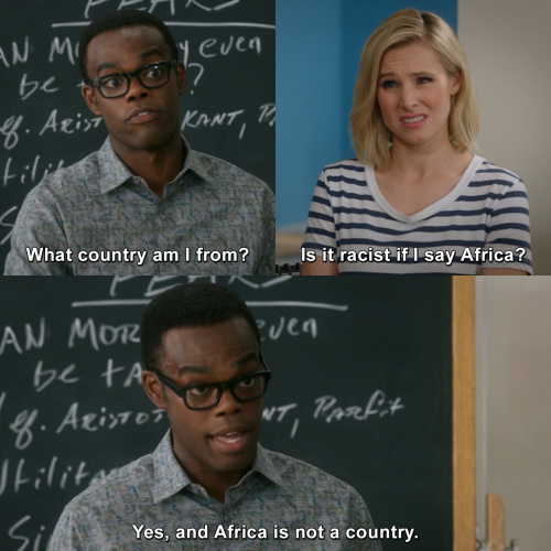 The Good Place - Is it racist if I say Africa?