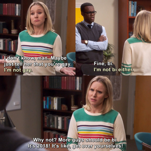 The Good Place - I'm not gay