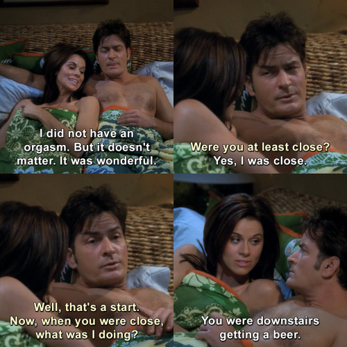 Two and a Half Men - Were you at least close?