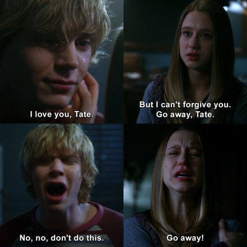 American Horror Story - I love you, Tate. But I can't forgive you.