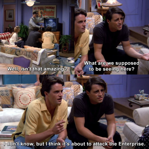 Friends - What are we supposed to be seeing here?