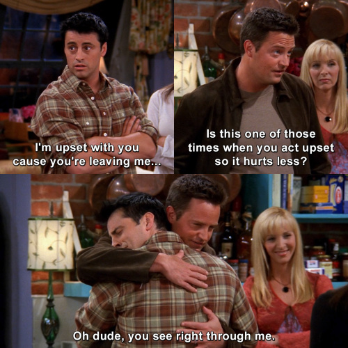 Friends - The one where Chandler was leaving