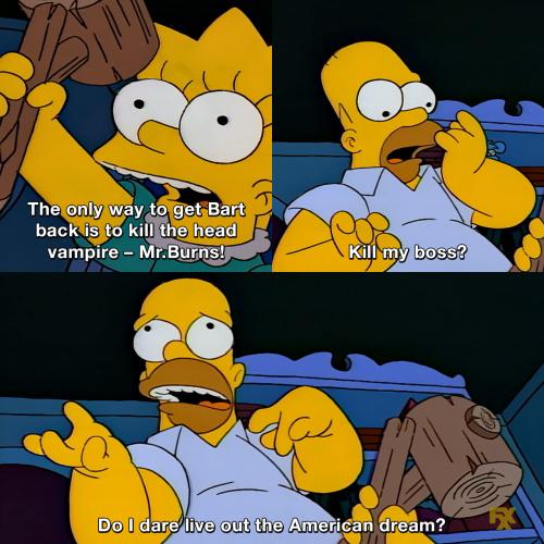 The Simpsons - American dream