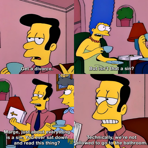 The Simpsons - But isn't that a sin?
