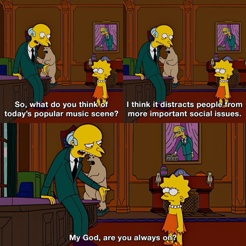 The Simpsons - Chill Lisa, chill