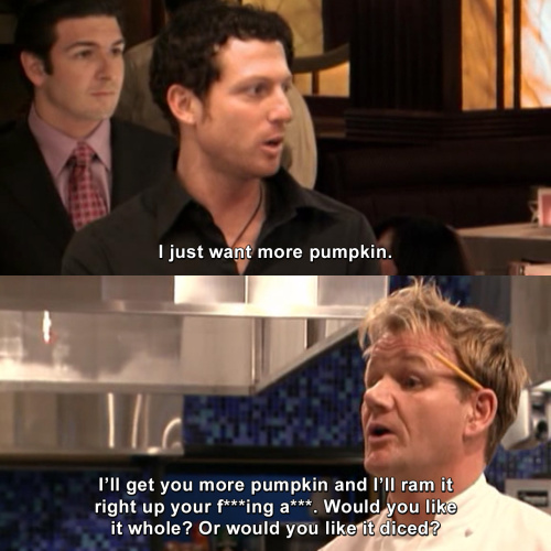 Hells Kitchen - I just want more pumpkin