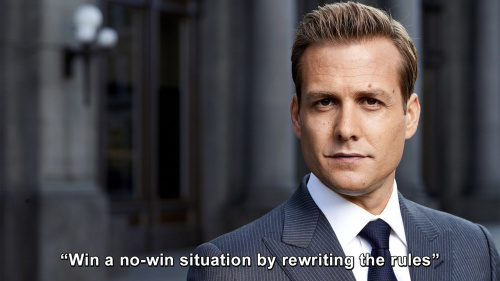 Suits - Win a no-win situation by rewriting the rules