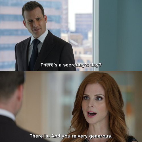 Suits - There's a secretary's day?