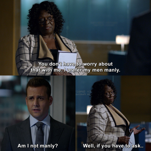Suits - I prefer my men manly.