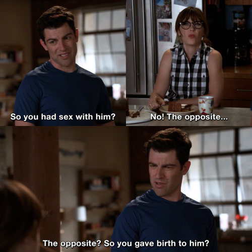 New Girl - So you had sex with him?